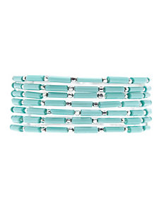 Multi row stretch bracelet