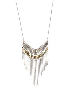 Fringed bib necklace