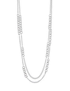 Ring link station chain necklace