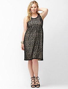 Leopard illusion skater dress