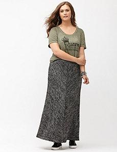 Marled maxi skirt