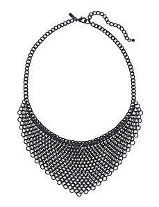 Chain link bib necklace
