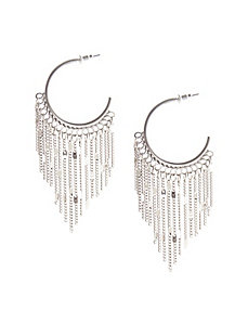 Half hoop earrings with fringe