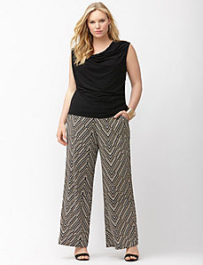 Simply Chic matte Jersey tribal wide leg pant