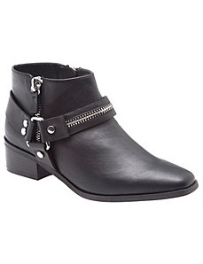 Zipper harness ankle boot