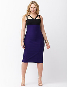 Strappy colorblock dress by ABS Allen Schwartz