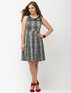 Leopard A-line dress