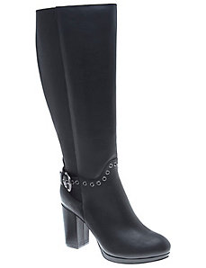 Ceri leather grommet boot
