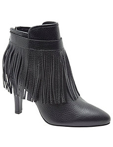 Maria leather fringe ankle boot
