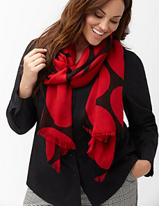 Big dot oblong scarf