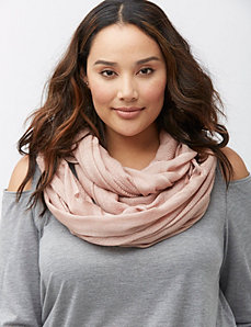 Textured metallic scarf