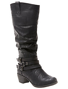 Two tone riding boot