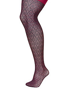 Textured diamond tights
