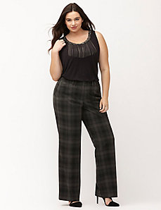 Lena plaid trouser with Tighter Tummy Technology