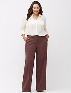 Lena tweed wide leg pant
