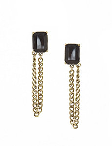 Chain drop stone earrings