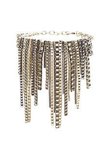 Chain fringe bracelet