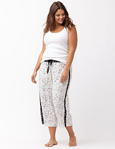 Script print cropped sleep pant