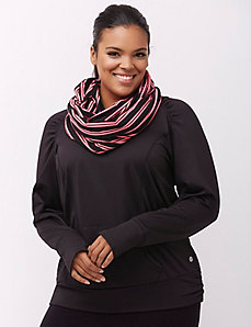 Combat Cancer pink striped eternity scarf