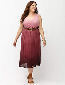 Pleated ombre dress