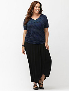 Simply Chic matte Jersey wedge tee