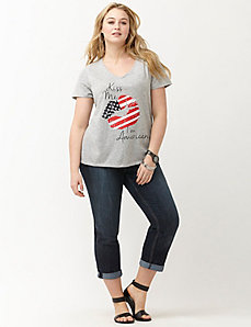 Kiss Me I'm American tee