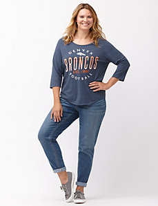 Denver Broncos 3/4 sleeve tee