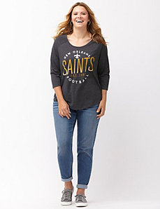New Orleans Saints 3/4 sleeve tee