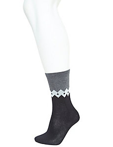 Aztec & colorblock crew sock 2-pack
