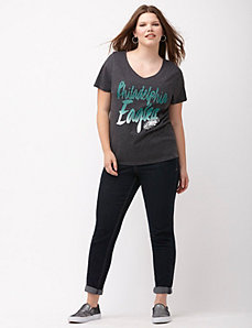 Philadelphia Eagles glittered V-neck tee