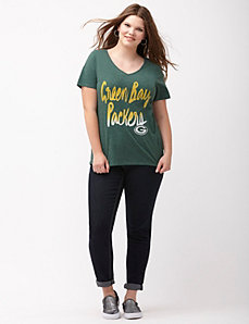 Green Bay Packers glittered V-neck tee