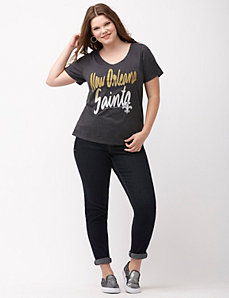 New Orleans Saints glittered V-neck tee