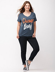 Chicago Bears glittered V-neck tee