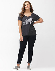 Philadelphia Eagles burnout logo tee