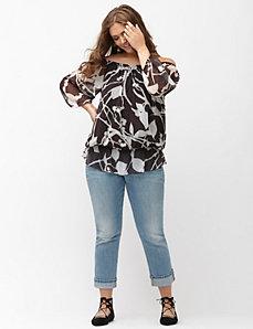 Floral peasant blouse