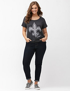 New Orleans Saints burnout logo tee