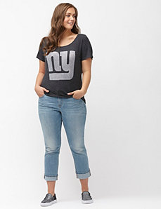 New York Giants burnout logo tee