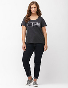 Seattle Seahawks burnout logo tee
