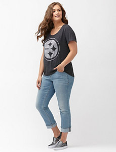 Pittsburgh Steelers burnout logo tee