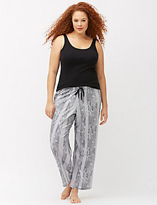 Patchwork lace sleep pant