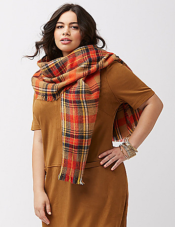 Plus size cold weather scarf