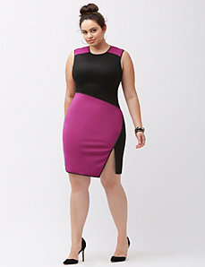 Colorblock sheath dress by ABS by Allen Schwartz