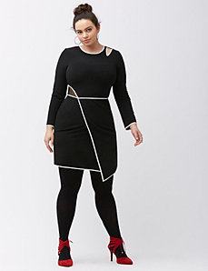 Bodycon dress with cut outs by ABS Allen Schwartz