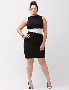 Eyelet bodycon dress by ABS by Allen Schwartz