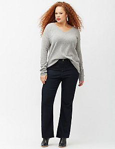 6th & Lane high-waist flared trouser jean