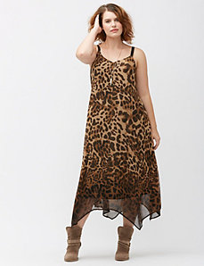 Ombre animal slip dress