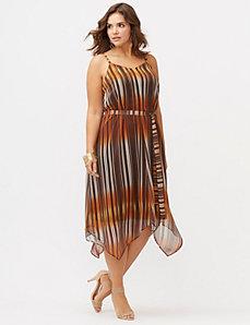 Strap back midi dress