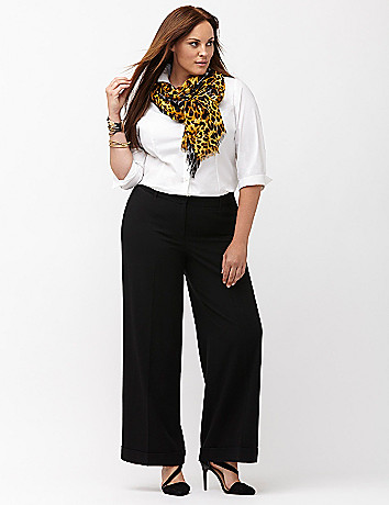 Plus size career work pant