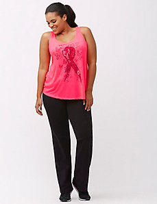 Combat Cancer pink ribbon tank