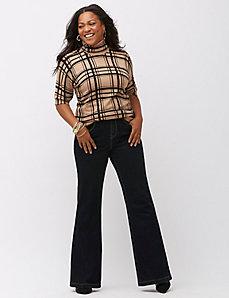 High waist flare jean
